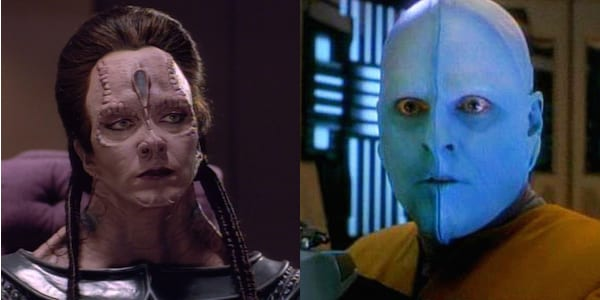 Bolians protest Cardassian practice of wearing of Bolian skin clothing